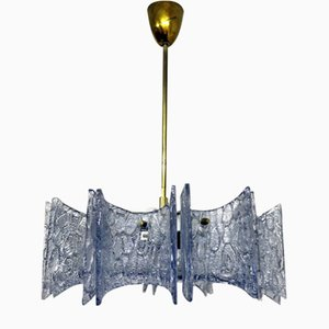 Vintage Glass Dispersion Chandelier from Stölzle, 1960s