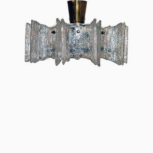 Vintage Kronleuchter aus Dispersionsglas von Stölzle