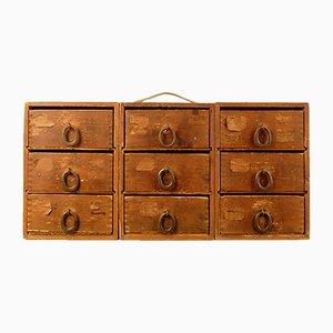 Kleine modulare Vintage Schubladenboxen, 3er Set