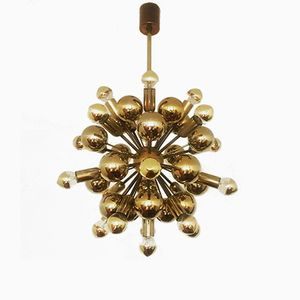 Golden Sputnik Chandelier from Cosack, 1970s