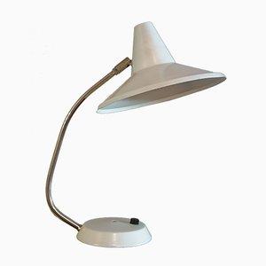 Weiße Schreibtischlampe, 1950er