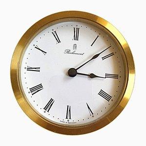 Mid-Century Uhr aus Messing von Rochemont