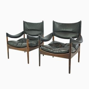 Modus Easy Chairs by Kristian Vedel for Sören Willadsen, Denmark, 1960s, Set of 2