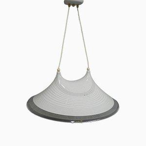 Lampada da soffitto vintage in plastica, anni '80
