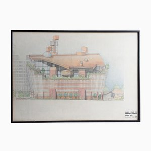 Original Architectural Draft of The Ark by Alistair Hay, 1989