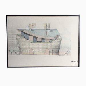 Dessin Architectural Original de The Ark par Alistair Hay, 1989