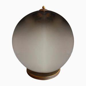 Tischlampe aus Rauchglas in Kugel-Optik von Paolo Venini, 1970er