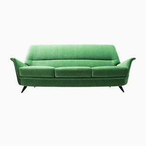 Sofá italiano verde, años 50