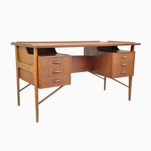 Freistehender dänischer Schreibtisch, 1960er