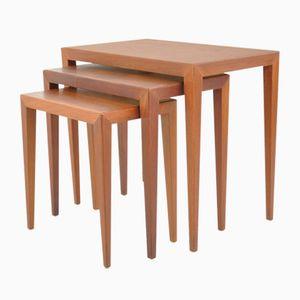 Tables Gigognes par Severin Hansen pour Haslev, 1950s