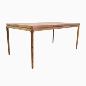Mesa de comedor extensible de Ib Kofod-Larsen para Christian Linneberg, años 50