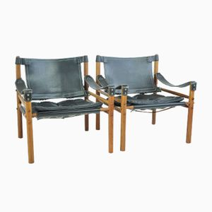 Swedish Scirocco Easy Chairs by Arne Norell for Norell AB, 1960s, Set of 2