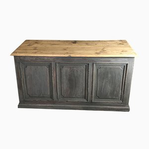 Antique Blue-Grey Shop Counter