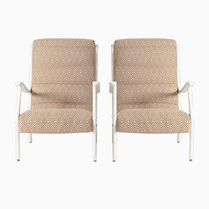 Mid-Century Armchairs by Ezio Longhi, Set of 2