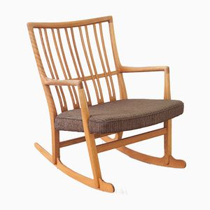 Vintage ML-33 Rocking Chair by Hans J. Wegner for A/S Mikael Laursen