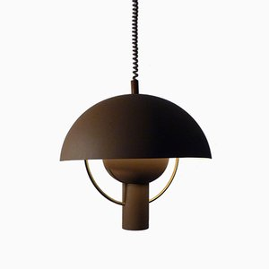 Dutch Flowerpot Ceiling Lamp from Dijkstra, 1960s