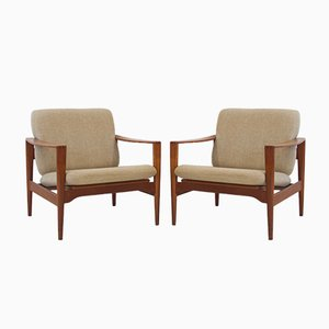 Vintage Model EK Teak Armchairs by Illum Wikkelsø, Set of 2