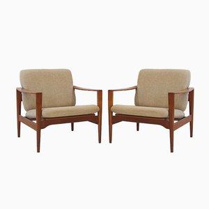 Vintage Model EK Teak Armchairs by Illum Wikkelsø, Set of 2