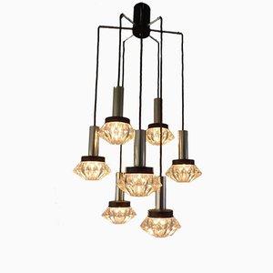Large Mid-Century 8 Light Cascade Lamp