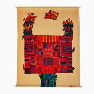 Decorazione da parete in tessuto stampato di Stig Lindberg per NK, anni '60