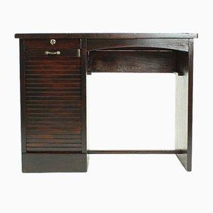 Schreibtisch aus Eiche mit Rollschrank, 1930er