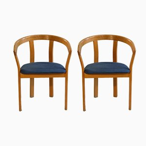 Oak Armchairs from Høng Stolefabrik, 1970s, Set of 2