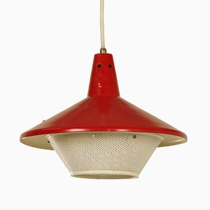 Red Hanging Lamp by Niek Hiemstra for Hiemstra Evolux, 1960s