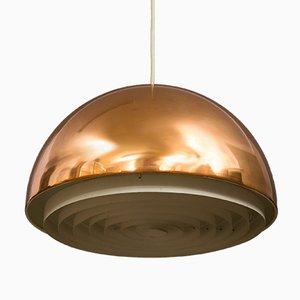Lampe à Suspension en Cuivre par Vilhelm Wohlert & Jørgen Bo pour Louis Poulsen, 1960s