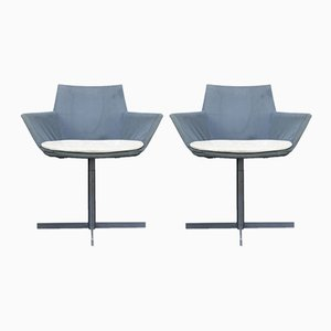 Metal Swivel Chair, 1970s, Set of 2