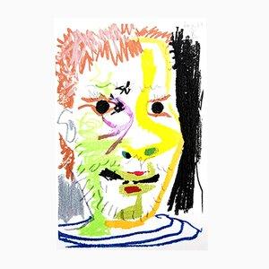 Le Goût de Bonheur Colorful Portrait by Pablo Picasso, 1970