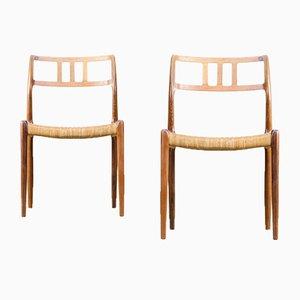 Sedie modello 79 di Niels Otto Møller per J.L Moller, anni '60, set di 2