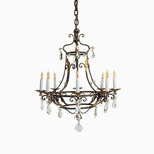 19th Century Wrought Iron Chandelier