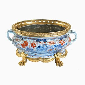 Antique Gilt Bronze Planter