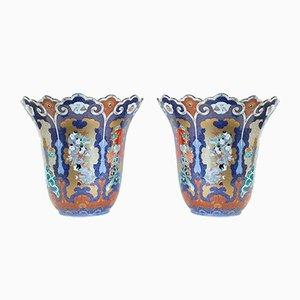 Japanische Vasen, 19. Jh., 2er Set