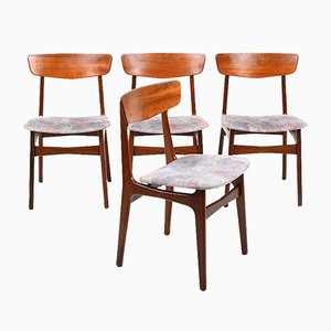 Mid-Century Danish Teak Dining Chairs, Set of 4