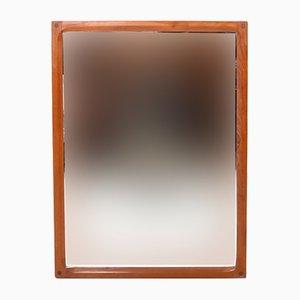 Specchio vintage in teak di Aksel Kjersgaard