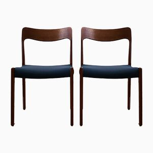 Mid-Century Danish Teak Chairs, Set of 2