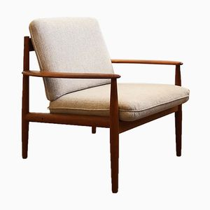 Mid-Century Danish Teak Lounge Chair by Grete Jalk for Cado