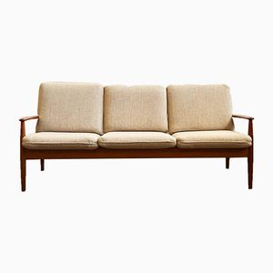 Mid-Century Danish Modern Teak Sofa by Grete Jalk for Cado