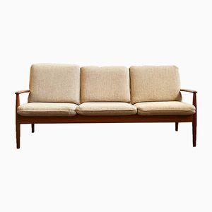 Mid-Century Danish Modern Teak Sofa by Grete Jalk for Cado