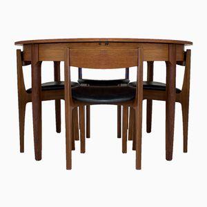 Set da pranzo Mid-Century in teak di Bath Cabinet Makers
