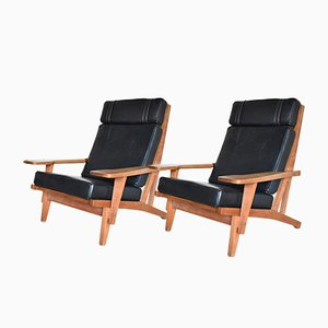 GE-375 Lounge Chairs by Hans J. Wegner for Getama, 1960s, Set of 2