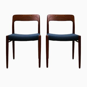 Mid-Century Danish Teak Chairs by Niels Otto Møller for J.L. Møllers, Set of 2