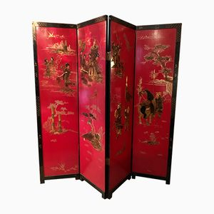 Mid-Century Chinese Lacquered Screen