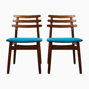 Dänische Mid-Century Modell J48 Stühle aus Eiche von Poul Volther, 2er Set