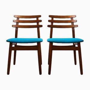 Mid-Century Danish Oak Model J48 Chairs by Poul Volther, Set of 2