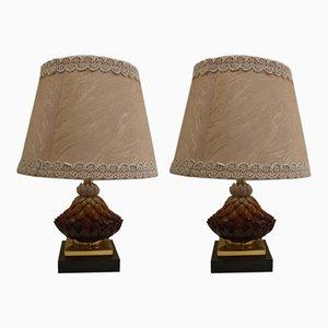 Lampade da tavolo vintage in ceramica di Banci, set di 2