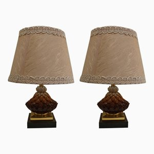 Vintage Ceramic Table Lamps from Banci, Set of 2