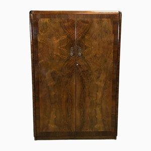 Armoire Art Deco en Loupe de Noyer