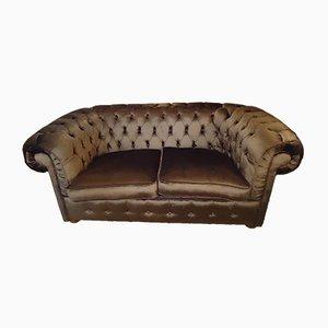 Capitonné Velvet Sofa, 1950s